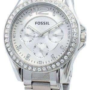 Reacondicionado Fossil Riley ES3202 Cronógrafo Diamond Acentos Reloj de mujer