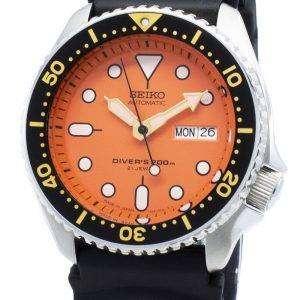 Reacondicionado Seiko automático SKX011 SKX011J1 SKX011J Japón hizo Diver 200M reloj para hombres