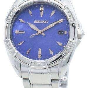 Seiko Classic SKK881P SKK881P1 SKK881 Reloj de cuarzo con detalles de diamantes para mujer