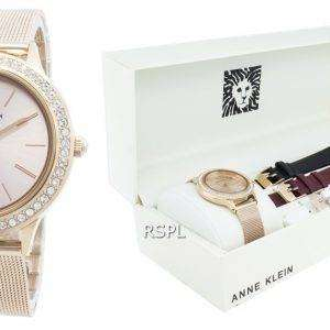 Anne Klein 3418RGST Reloj de cuarzo con detalles de diamantes para mujer