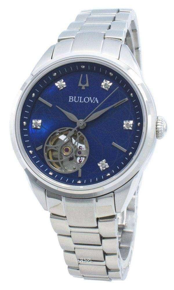 Bulova Classics 96P191 Diamond Acentos Reloj automático para mujer