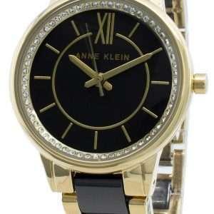 Anne Klein 3344BKGB Reloj de cuarzo con detalles de diamantes para mujer