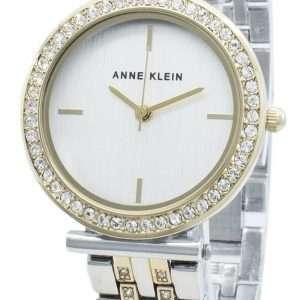 Anne Klein AK-3409SVTT Reloj de cuarzo con detalles de diamantes para mujer