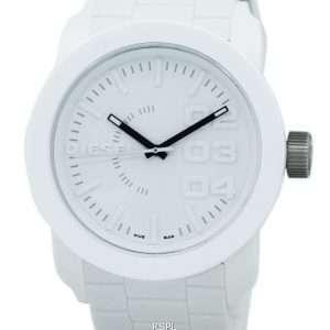 Reloj doble para hombre con esfera blanca y correa de caucho DZ1436 Diesel