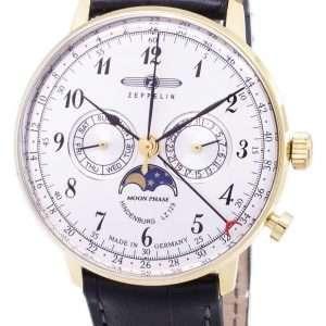 Reloj Zeppelin Series LZ 129 Hindenburg Germany Made 7038-1 70381 para hombre