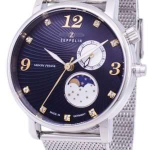 Reloj Zeppelin Series Luna Moon Phase Germany Made 7637M-3 7637M3 para mujer