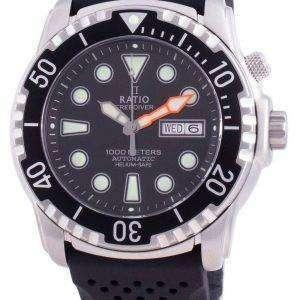 Ratio Free Diver Helium-Safe 1000M Sapphire Automatic 1068HA90-34VA-BLK Reloj para hombre
