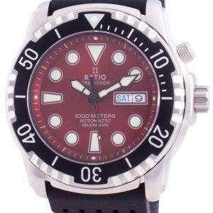 Ratio Free Diver Helium-Safe 1000M Sapphire Automatic 1068HA90-34VA-RED Reloj para hombre