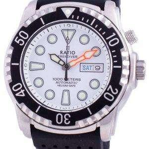 Ratio Free Diver Helium-Safe 1000M Sapphire Automatic 1068HA90-34VA-WHT Reloj para hombre