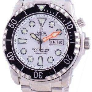Ratio Free Diver Helium-Safe 1000M Sapphire Automatic 1068HA96-34VA-WHT Reloj para hombre