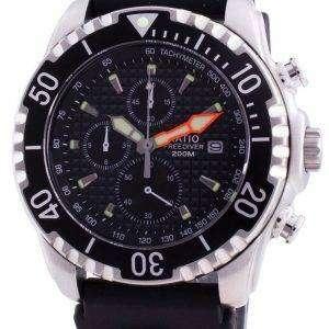 Ratio 200m Diver Quartz Chronograph Sapphire 48HA90-17 + CHR-BLK Reloj para hombre