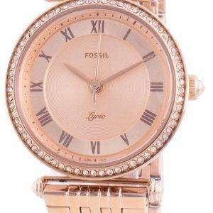 Fossil Lyric ES4711 Reloj de mujer con detalles de diamantes de cuarzo