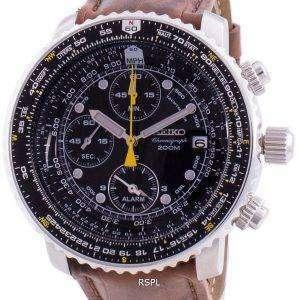 Seiko Pilot&#39,s Flight SNA411P1-VAR-LS7 Cronógrafo de cuarzo 200M Reloj para hombre