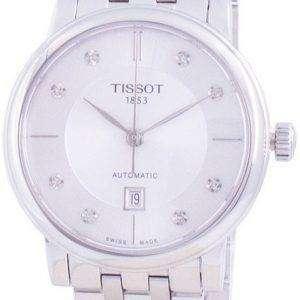 Tissot T-Classic Carson T122.207.11.036.00 T1222071103600 Reloj automático para mujer con detalles de diamantes