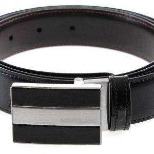 Montblanc 112962 Cinturón de cuero Meisterstuck Reversible negro / marrón para hombre