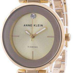 Anne Klein 2512BYGB Quartz Diamond Accents Reloj para mujer