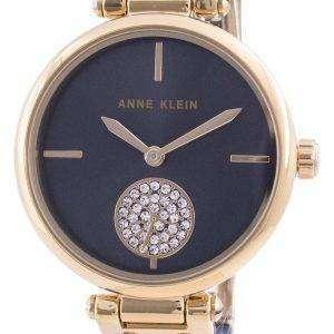 Anne Klein Swarovski Crystal Accented 3001GPBL Reloj de cuarzo para mujer
