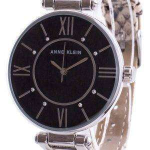 Anne Klein Swarovski Crystal Accented 3229BKCR Reloj de cuarzo para mujer