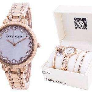 Anne Klein Swarovski Crystal Accented 3488RGST Quartz With Gift Set Reloj para mujer