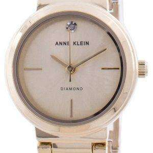 Reloj de cuarzo Anne Klein Genuine Diamond 3528CHGB para mujer