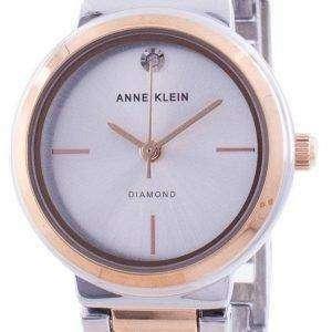 Reloj de cuarzo para mujer Anne Klein Genuine Diamond 3529SVRT