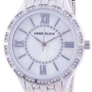 Anne Klein Swarovski Crystal Accented 3549WTSV Reloj de cuarzo para mujer