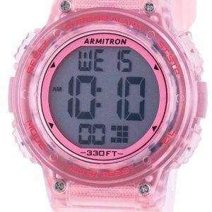 Armitron Sport 457086TPK Quartz Dual Time Reloj para mujer