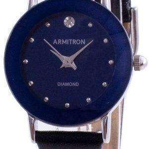 Armitron 752447BLSVBK Reloj de mujer con detalles de diamantes de cuarzo