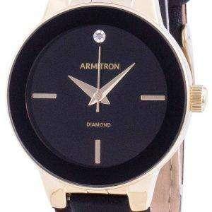 Armitron 755410BKGPBK Reloj de mujer con detalles de diamantes de cuarzo