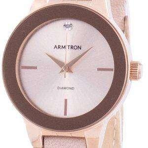 Armitron 755410RSRGBH Reloj de mujer con detalles de diamantes de cuarzo