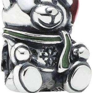 PANDORA 791391ENMX Christmas Bear Charm para mujer