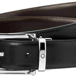 Montblanc-Lea 9774 Cinturón reversible de cuero negro / marrón para hombre