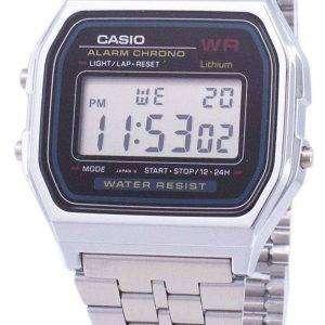 Reloj Casio Digital alarma Chrono acero inoxidable A159WA N1DF A159WA N1 de los hombres