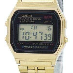 Casio Digital Alarm Chrono acero inoxidable A159WGEA-1DF A159WGEA-1 Reloj para mujer