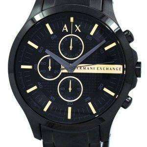 Reloj de hombre Armani Exchange PVD Cronógrafo Negro Cuarzo AX2164