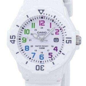Casio Enticer analógico Dial blanco LRW-200H-7BVDF LRW-200H-7BV reloj de mujeres
