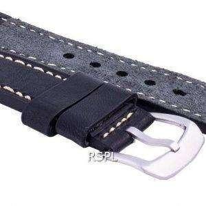 Seiko LS16 Correa de caucho negro 22 mm