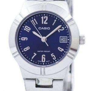 Casio Analog Cuarzo Azul Dial LTP-1241D-2A2DF LTP-1241D-2A2 Reloj para mujer