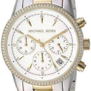 Michael Kors Ritz cronógrafo de cuarzo Diamond Accent MK6474 Reloj para mujer