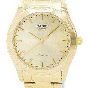Chapado en oro analógico cuarzo Casio MTP-1275G-9ADF MTP-1275G-9A reloj de hombres