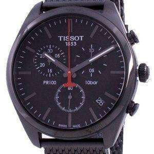 Tissot PR 100 T101.417.33.051.00 T1014173305100 Reloj cronógrafo de cuarzo para hombre