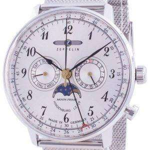 Reloj de hombre Zeppelin Hindenburg Z7036M1 Quartz Moon Phase