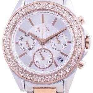 Armani Exchange Lady Drexler Diamond Accents Chronograph Quartz AX5653 Women's Watch