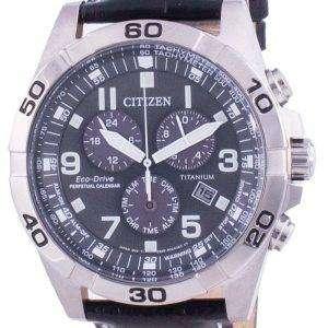 Reloj Citizen Brycen Super Titanium Perpetual Calendar Eco-Drive BL5551-14H 100M para hombre