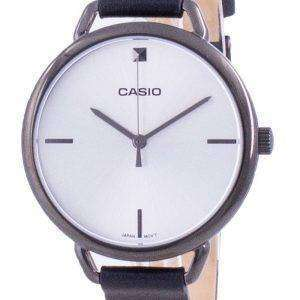 Reloj Casio plateado con correa de cuero y cuarzo LTP-E415GRL-1C LTPE415GRL-1C para mujer