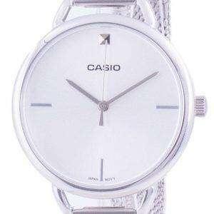 Reloj Casio plateado de cuarzo de acero inoxidable LTP-E415M-7C LTPE415M-7C para mujer