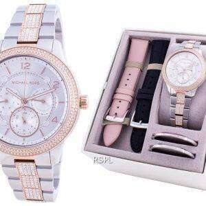 Michael Kors Runway Diamond Accents Quartz MK6727 With Strap Gift Set Women's Watch