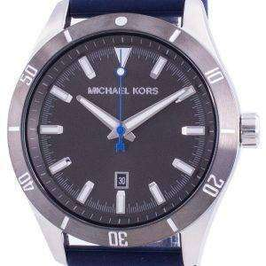 Michael Kors Layton Grey Dial Silicone Strap Quartz MK8818 Men's Watch
