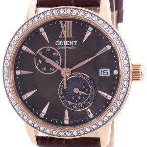 Orient Sun  Moon Phase Diamond Accents Automatic Japan Made RA-AK0005Y00C Womens Watch