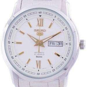 Seiko 5 Automatic White Dial SNKP15 SNKP15K1 SNKP15K Men's Watch